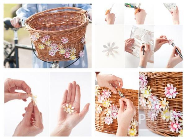 รูป 1 ดอกไม้ตกแต่ง ทำจากกระป๋องน้ำอัดลม