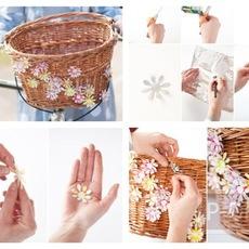ดอกไม้ตกแต่ง ทำจากกระป๋องน้ำอัดลม