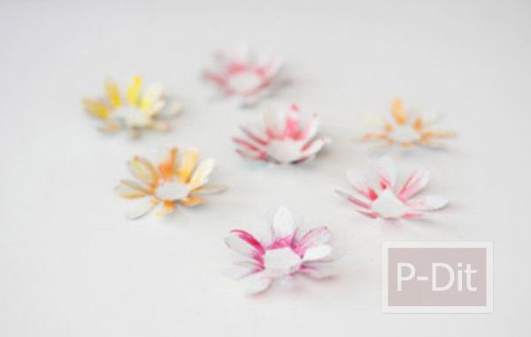 รูป 5 ดอกไม้ตกแต่ง ทำจากกระป๋องน้ำอัดลม
