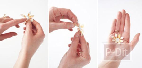 รูป 6 ดอกไม้ตกแต่ง ทำจากกระป๋องน้ำอัดลม