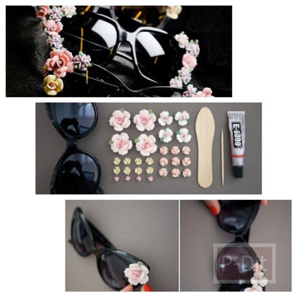 รูป 1 ตกแต่งแว่นตา ติดดอกไม้