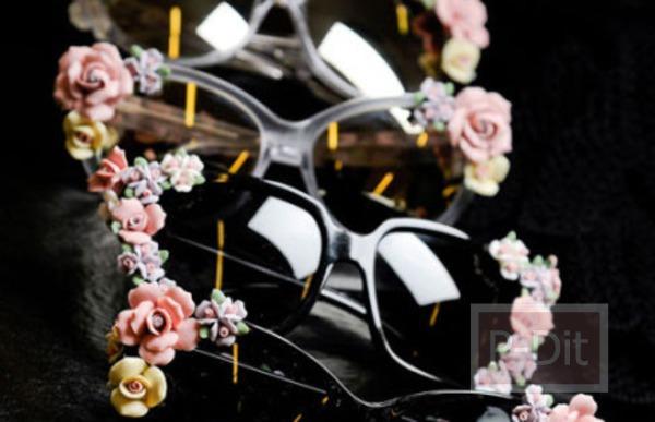 รูป 2 ตกแต่งแว่นตา ติดดอกไม้
