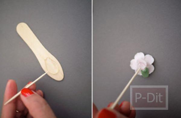 รูป 4 ตกแต่งแว่นตา ติดดอกไม้