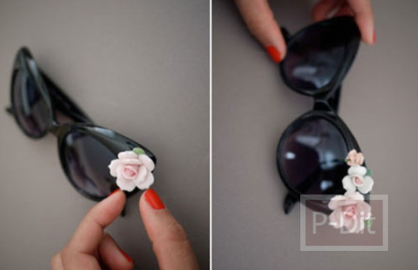 รูป 5 ตกแต่งแว่นตา ติดดอกไม้