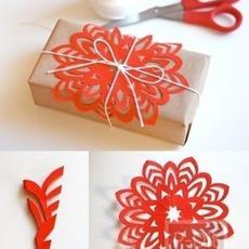 กระดาษห่อของขวัญ ตัดเป็นรูปดอกไม้