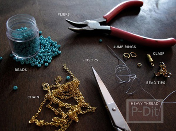 รูป 3 สอนทำสร้อยคอ จากเม็ดพลาสติก