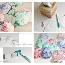 ประดิษฐ์ดอกไม้จากกระดาษทิชชู
