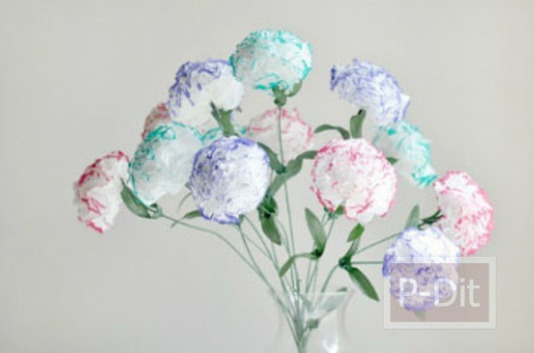 รูป 2 ประดิษฐ์ดอกไม้จากกระดาษทิชชู