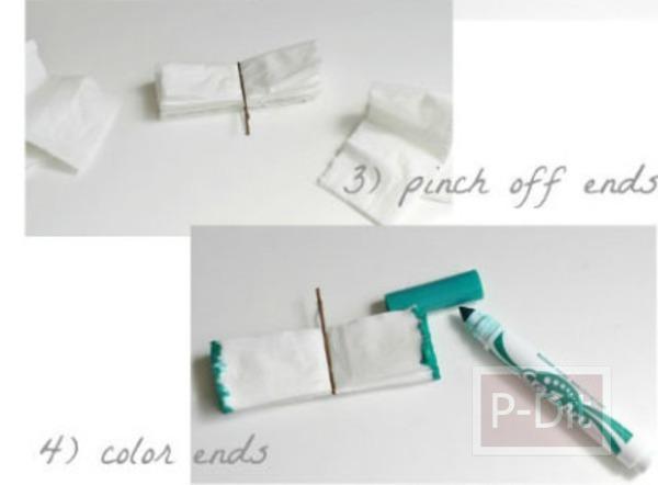 รูป 5 ประดิษฐ์ดอกไม้จากกระดาษทิชชู