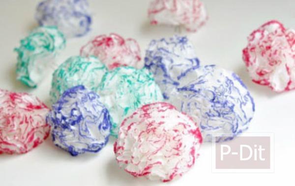 รูป 7 ประดิษฐ์ดอกไม้จากกระดาษทิชชู