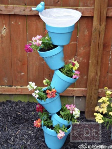 รูป 2 ทำกระถางดอกไม้ เป็นชั้นๆซ้อนๆกัน