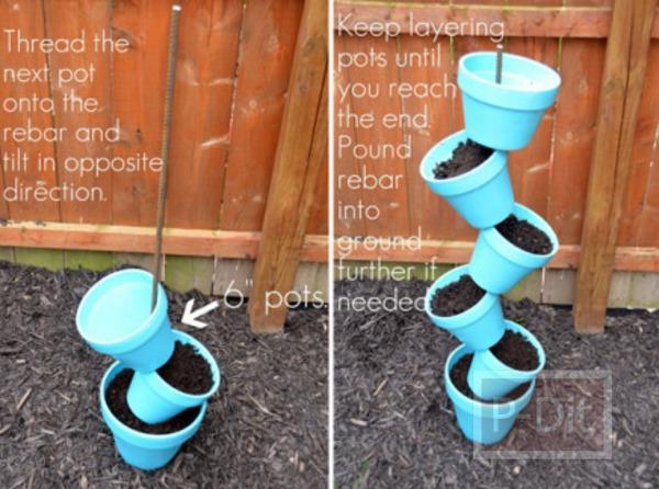 รูป 5 ทำกระถางดอกไม้ เป็นชั้นๆซ้อนๆกัน