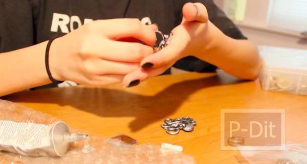 รูป 4 สอนทำแหวนจากกระดุม