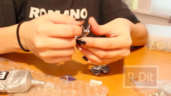 รูป 5 สอนทำแหวนจากกระดุม
