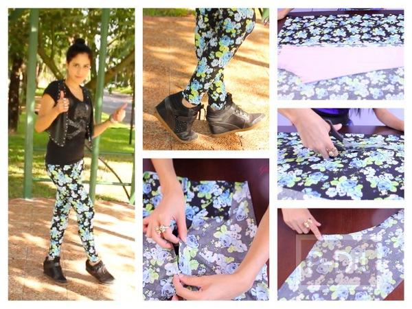 รูป 1 ตัดกางเกงเลคกิ้ง ลายสวยๆด้วยตัวเอง