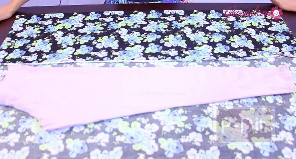 รูป 3 ตัดกางเกงเลคกิ้ง ลายสวยๆด้วยตัวเอง