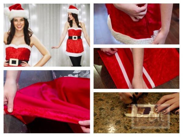 รูป 1 ตัดชุดซานตาครอสเกาะอกด้วยตัวเอง