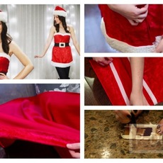 ตัดชุดซานตาครอสเกาะอกด้วยตัวเอง