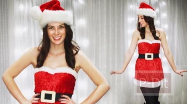 รูป 2 ตัดชุดซานตาครอสเกาะอกด้วยตัวเอง