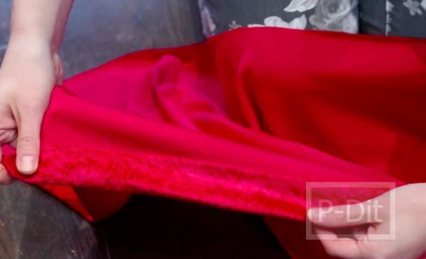 รูป 4 ตัดชุดซานตาครอสเกาะอกด้วยตัวเอง