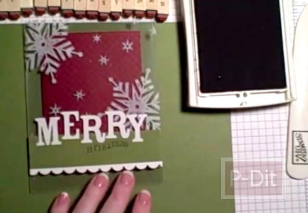 รูป 7 การ์ดคริสต์มาส แบบการ์ดใส