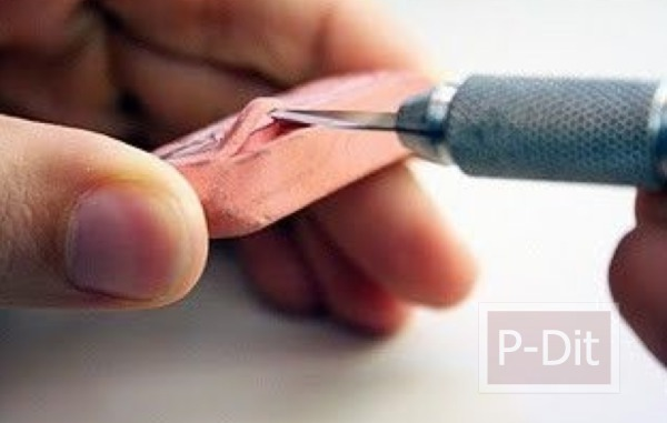 รูป 3 สอนทำที่ปั้ม จากยางลบก้อนเก่า