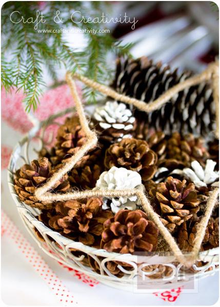 รูป 5 ทำดาวดวงใหญ่ตกแต่งต้นคริสต์มาส จากไม้แขวนเสื้อ