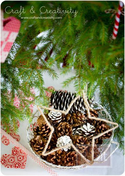รูป 6 ทำดาวดวงใหญ่ตกแต่งต้นคริสต์มาส จากไม้แขวนเสื้อ