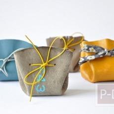 ประดิษฐ์ถุงใส่ของ จากเศษผ้า ใบเล็กๆ