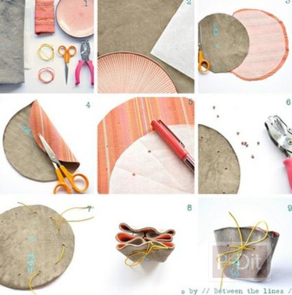 รูป 2 ประดิษฐ์ถุงใส่ของ จากเศษผ้า ใบเล็กๆ
