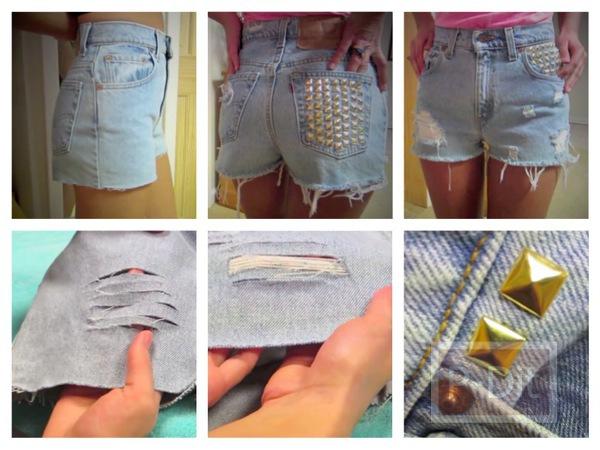รูป 1 เปลี่ยนกางเกงยีนส์ตัวเก่า ให้ดูดีขึ้น