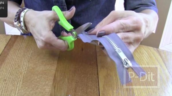 รูป 4 สอนทำสร้อยแขน จากซิป