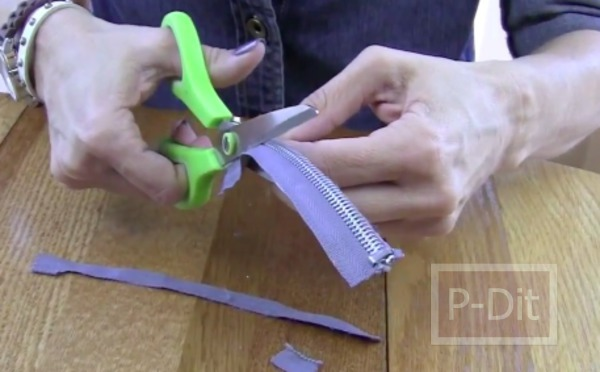 รูป 5 สอนทำสร้อยแขน จากซิป