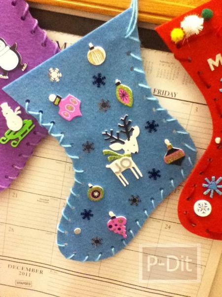 ทำถุงเท้า ขอของขวัญ จากซานตาครอส