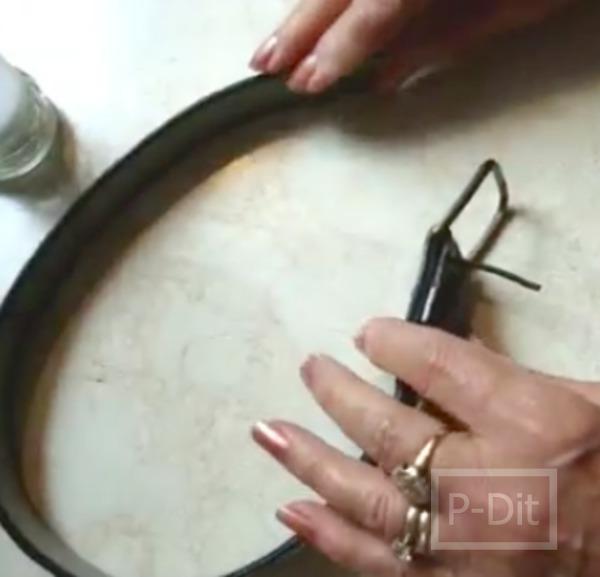 รูป 4 เข็มขัดเก่า ทำเป็นสร้อยข้อมือสวยๆ