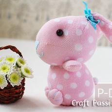 ทำตุ๊กตากระต่าย จากถุงเท้า