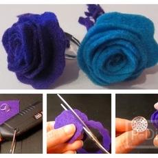 สอนทำแหวนดอกไม้ จากเศษผ้า