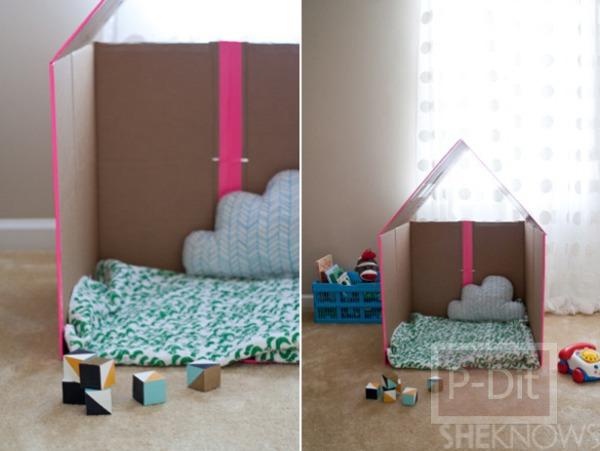 รูป 3 ทำบ้านของเล่น จากลังเก่าๆ