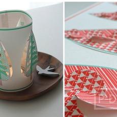 แก้วกระดาษเจาะรูดอกไม้ ใบไม้ สีสวยน่ากิน