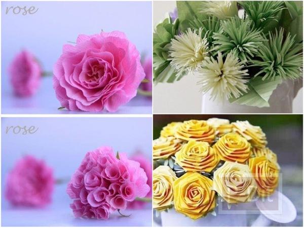 รูป 1 ไอเดียทำดอกไม้สวยๆ จากกระดาษ