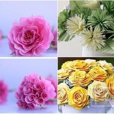 ไอเดียทำดอกไม้สวยๆ จากกระดาษ