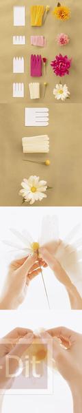 รูป 2 ไอเดียทำดอกไม้สวยๆ จากกระดาษ