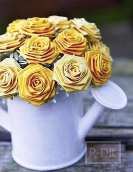 รูป 4 ไอเดียทำดอกไม้สวยๆ จากกระดาษ