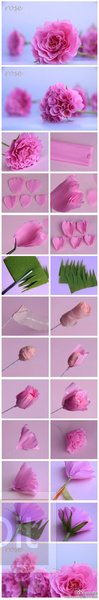 รูป 6 ไอเดียทำดอกไม้สวยๆ จากกระดาษ