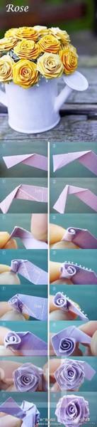 รูป 7 ไอเดียทำดอกไม้สวยๆ จากกระดาษ