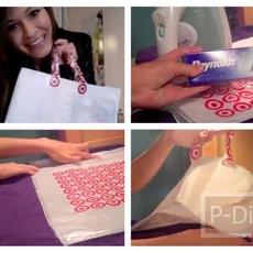 สอนทำถุงหิ้วสวยๆ จากถุงพลาสติกใส่ของ