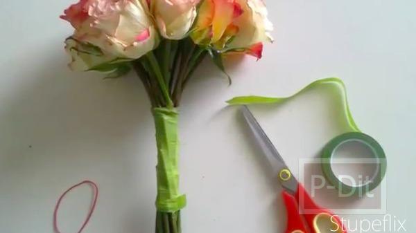 รูป 6 ไอเดียทำช่อดอกไม้ วันแต่งงาน