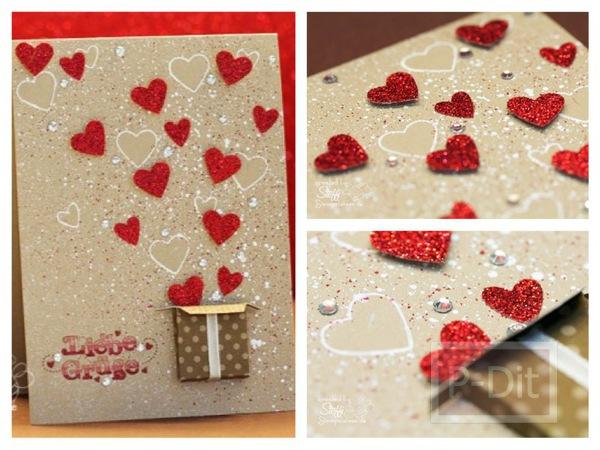 รูป 1 ไอเดียทำการ์ด วันวาเลนไทน์ ส่งหัวใจ จากกล่องกระดาษ