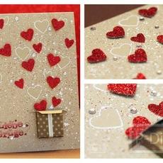 ไอเดียทำการ์ด วันวาเลนไทน์ ส่งหัวใจ จากกล่องกระดาษ