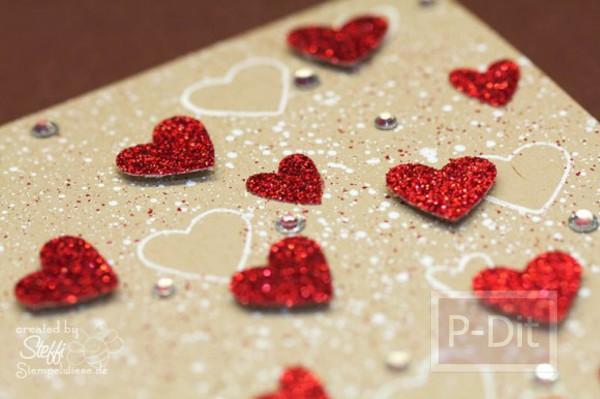 รูป 2 ไอเดียทำการ์ด วันวาเลนไทน์ ส่งหัวใจ จากกล่องกระดาษ